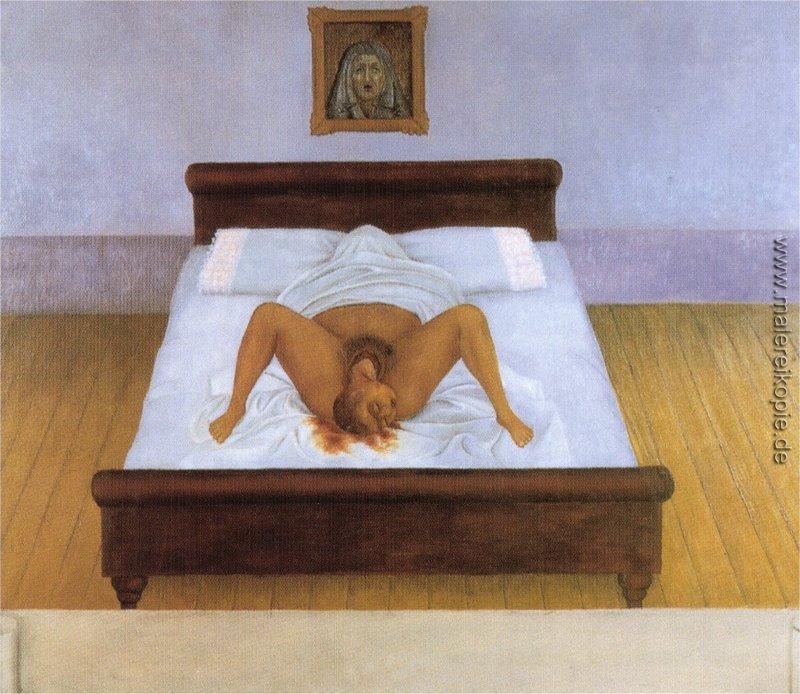 Meine Geburt - Frida Kahlo (malereikopie.de)